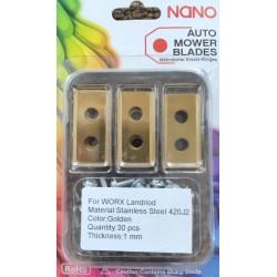 nano 9Stk Titan Ersatzklingen Ersatzmesser für Worx Landroid Modelle