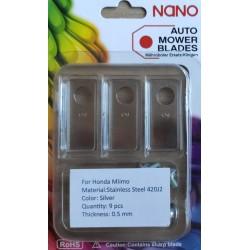 nano 9 Stk Stahl Ersatzklingen Ersatzmesser für Honda Miimo 310 / 520 / 3000 Modelle