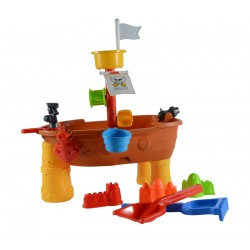 Piraten Sand- und Wasserspieltisch 21-teilig