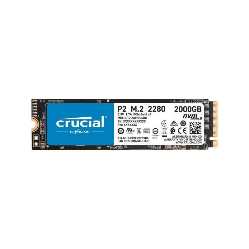 Crucial 2TB M.2 2280 NVMe P2 Series CT2000P2SSD8