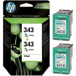 HP Druckkopf mit Tinte Nr 343 farbig, 2er Pack (CB332EE)