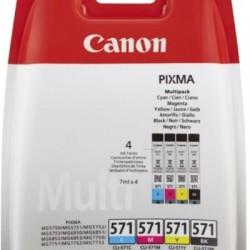 Canon CLI-571 Tinte Multipack schwarz/farbig inkl. PP-201 (0386C005/0386C006)