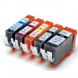 Kompatible Tinte zu Canon PGI-525/CLI-526 Rainbow-Kit