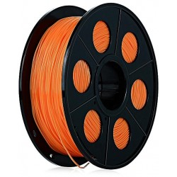 3D filament 1,75 mm TPU rubber gummi transparent orange 800g