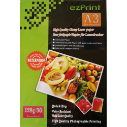 Laser Photopapier A3 50Stk 128g glossy