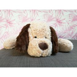 Bear toys Plüschhund Plüschtier Hund Stofftier Kuscheltier beige-braun super weich 90cm XL