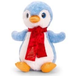 Plüsch Pinguin mit Schal 20cm hellblau