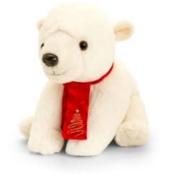 Plüsch Eisbär mit Schal 20cm