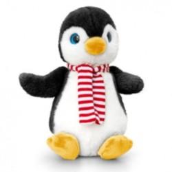 Plüsch Pinguin mit Schal 20cm schwarz