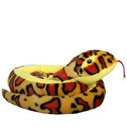 Plüschtier Schlange Anakonda Boa gelb super weich 100cm XL